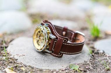 Часы мужские кожа